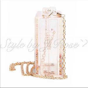 Pink Haley Bags - NWT's & Box Pink Haley Glitter Crossbody Clutch